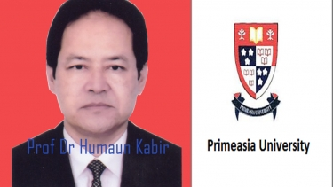 Prof Dr Humaun Kabir joined his office as acting Vice-Chancellor of Primeasia University